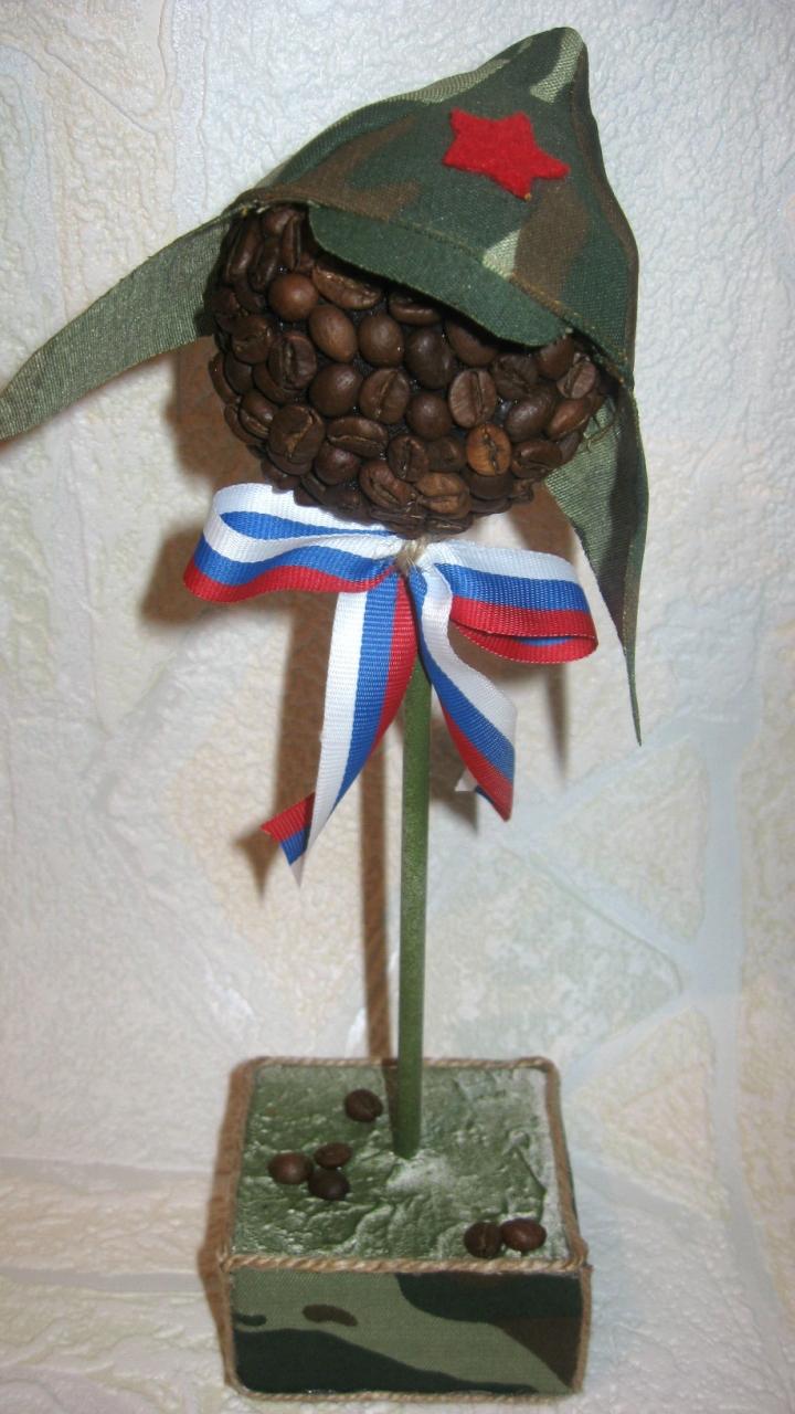 Подарки на 23 февраля своими руками из кофе