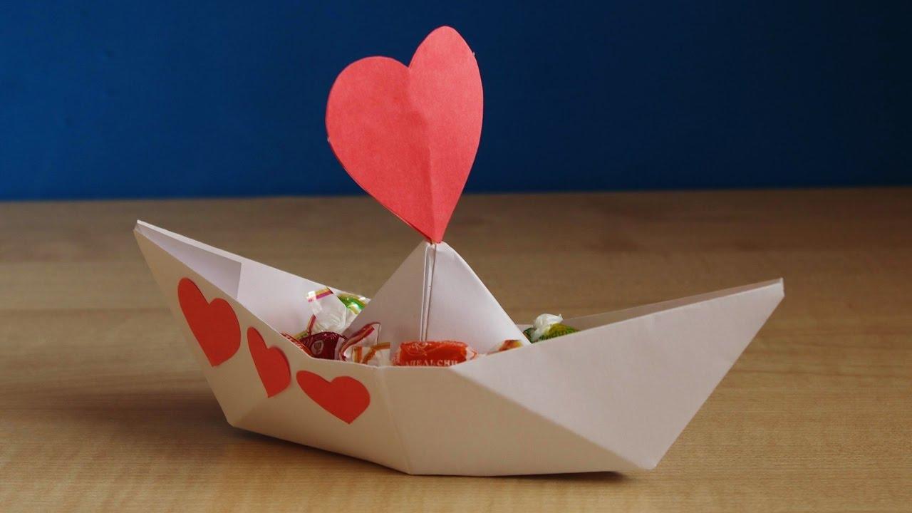 Поделки на 23 февраля кораблик с конфетами