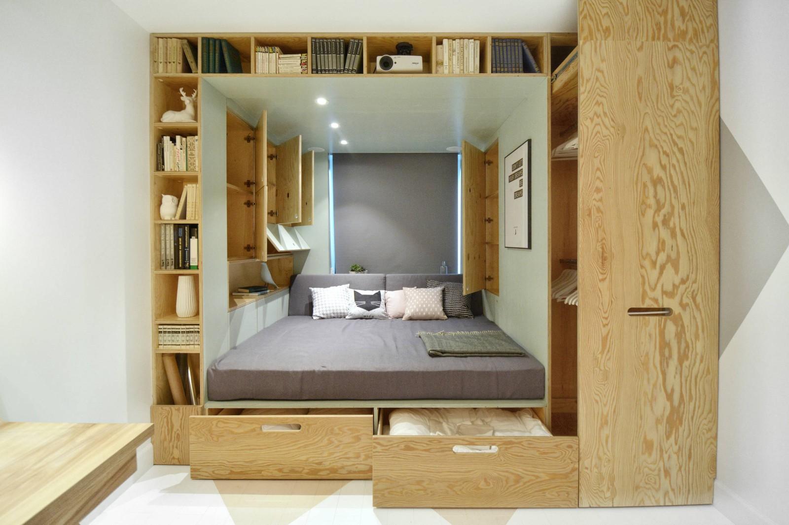 Кровать подиум в конструкции