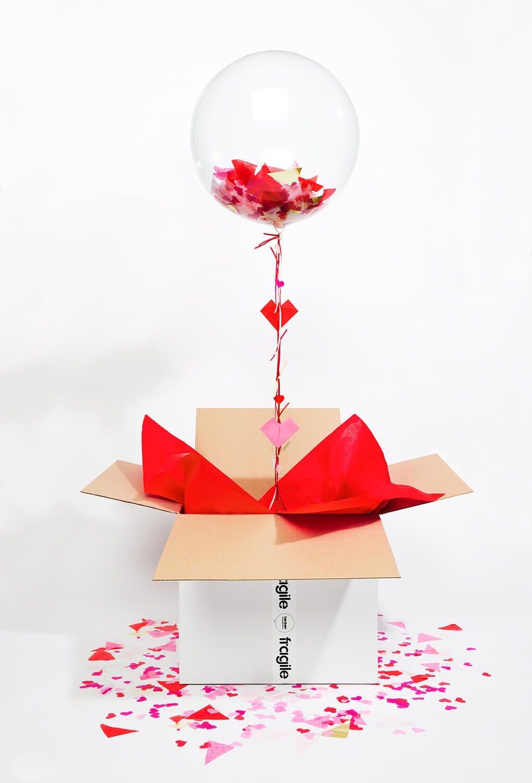 Поделка на 14 февраля коробка с парящими сердцами