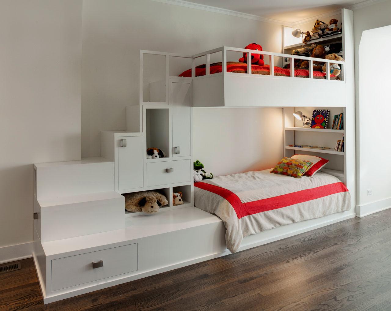 Кровать чердак корпусная
