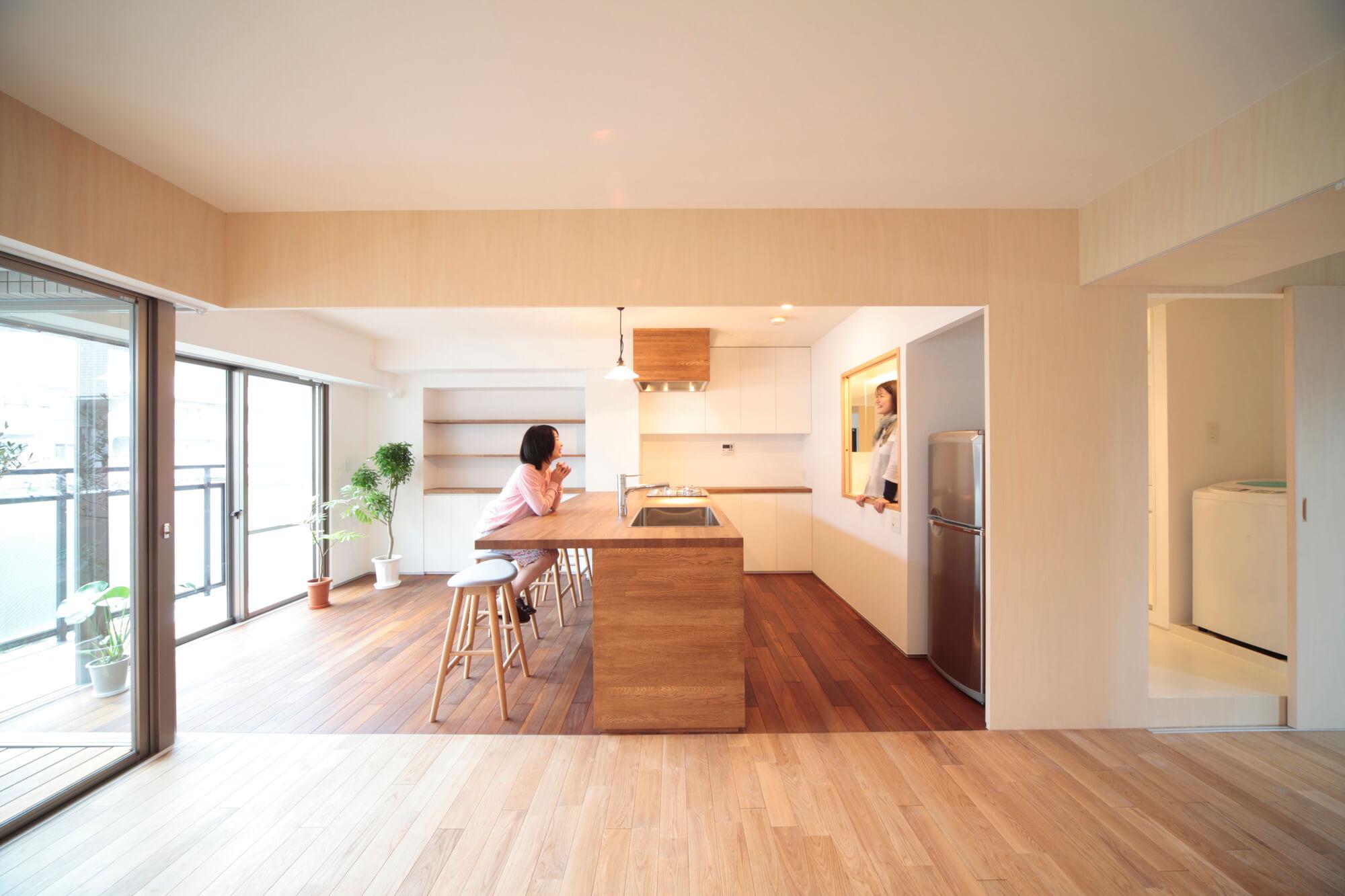Японский интерьер кухни в доме
