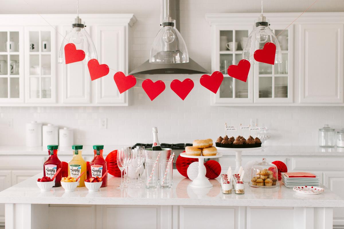 Декор кухни на день святого валентина