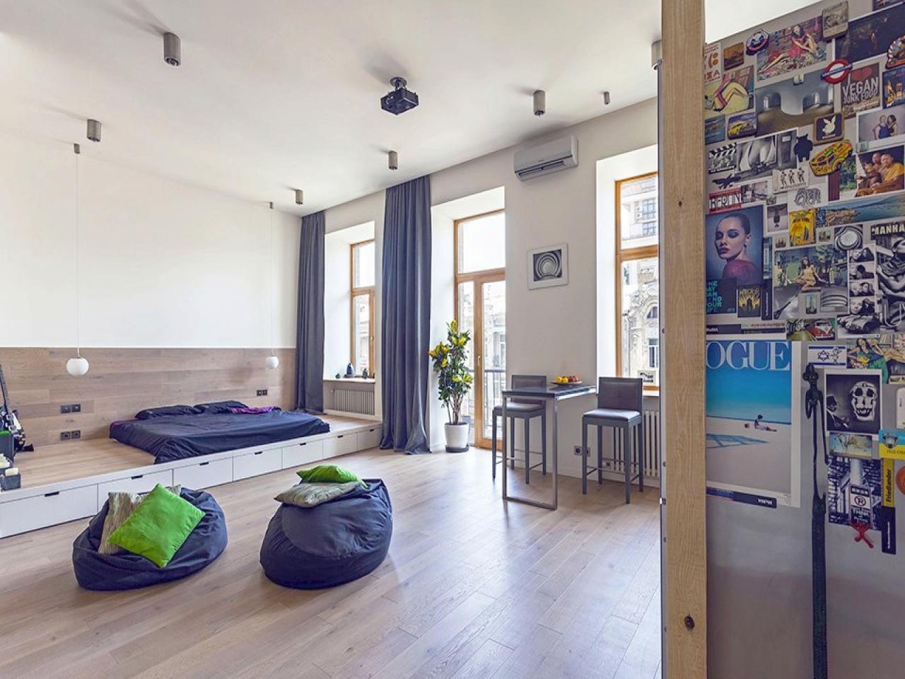 Кровать подиум в квартире