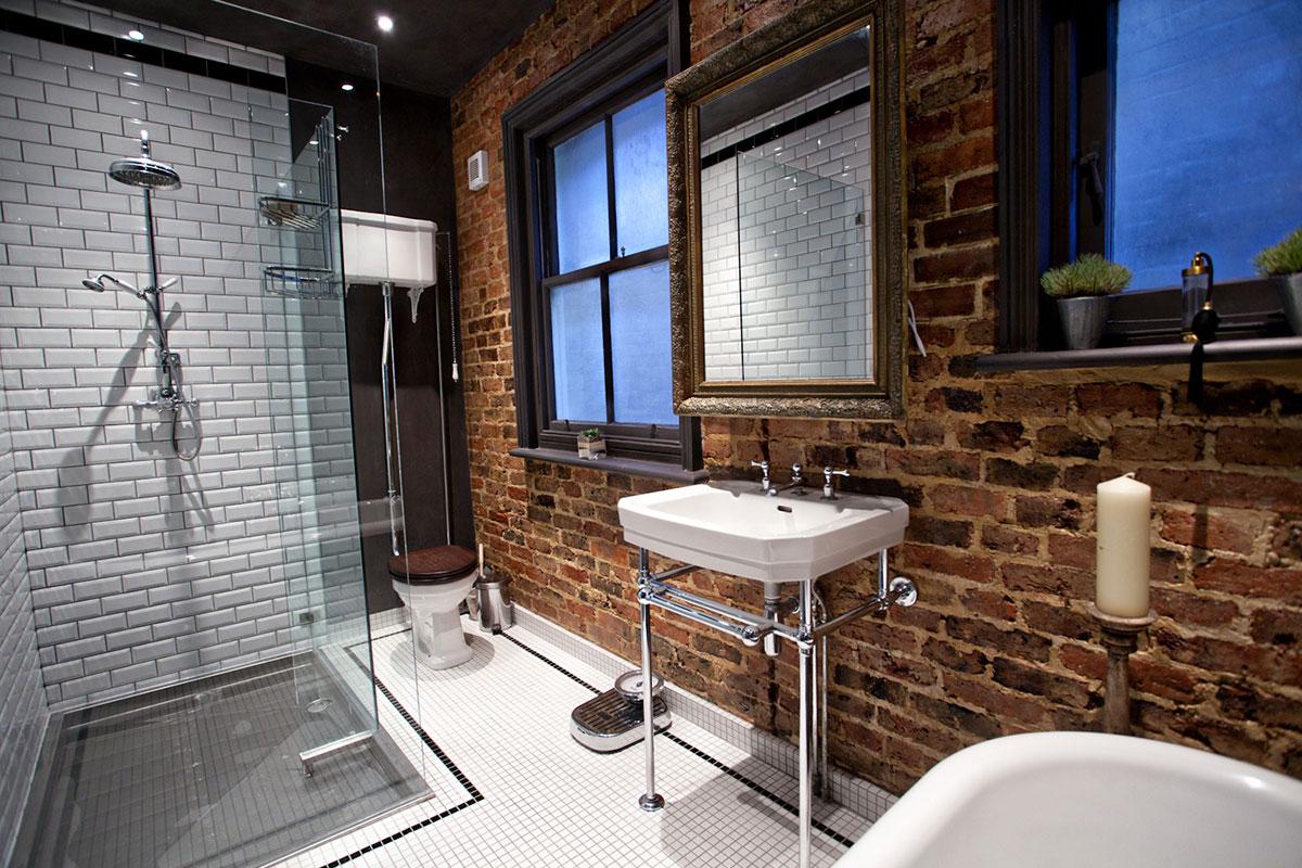 Большая ванная лофт