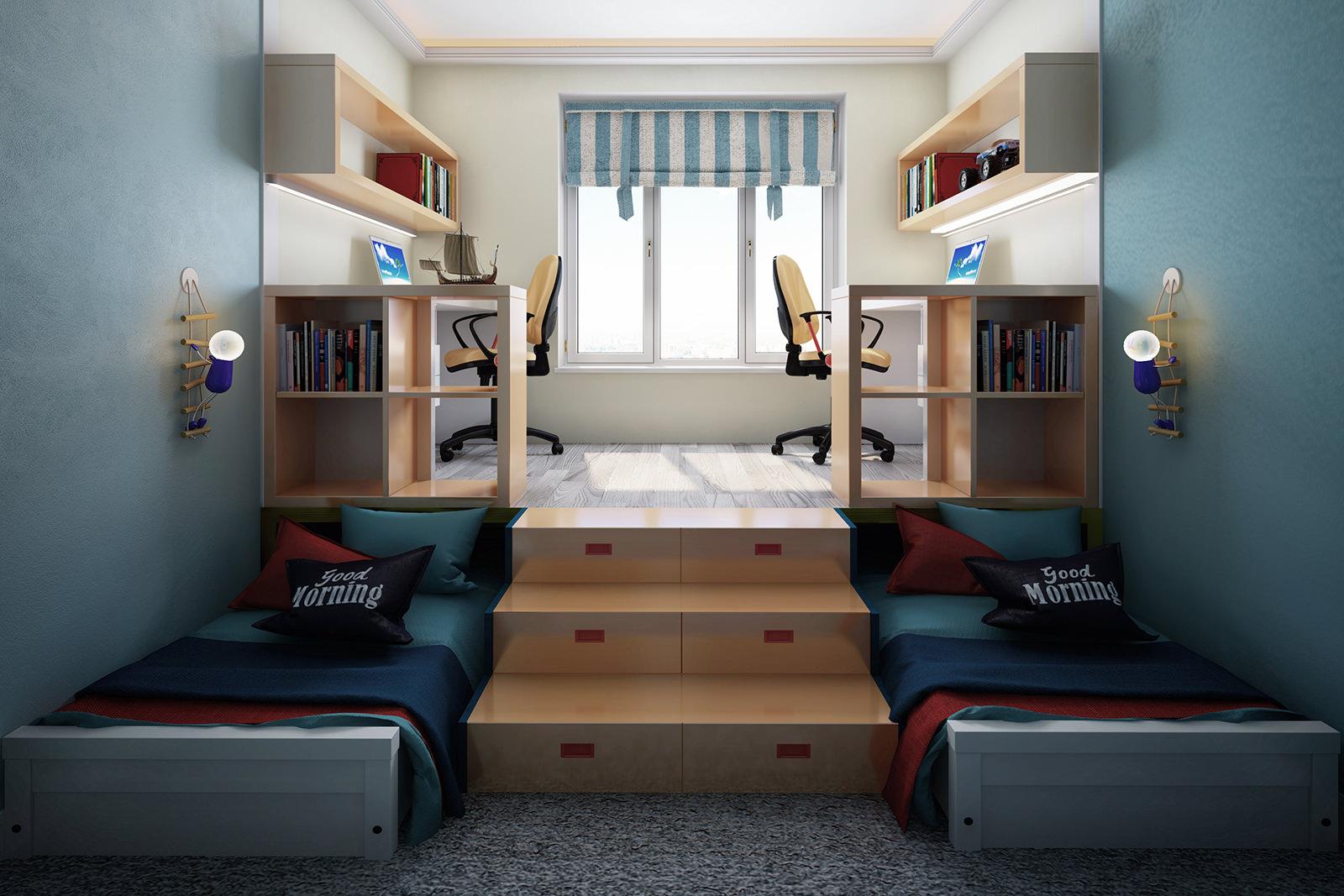 Кровать подиум для мальчика