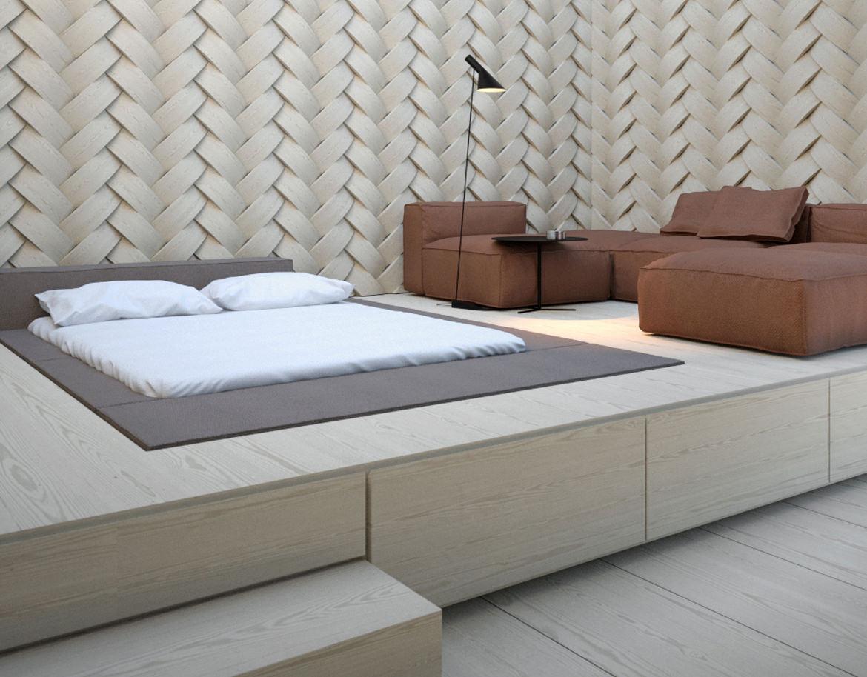 Кровать подиум с матрасом
