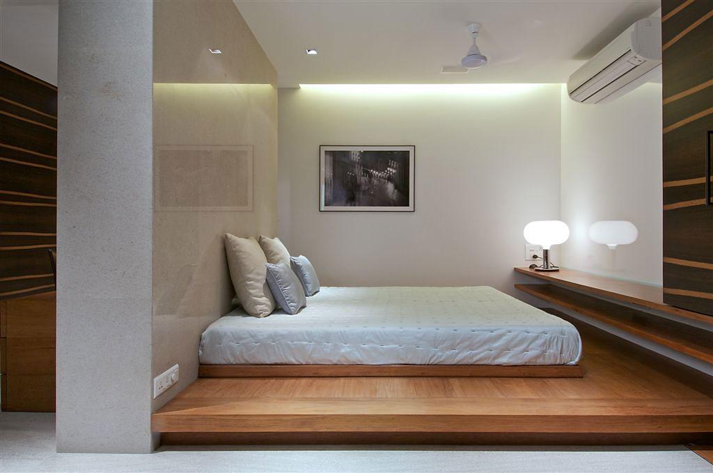 Кровать подиум в стиле минимализм