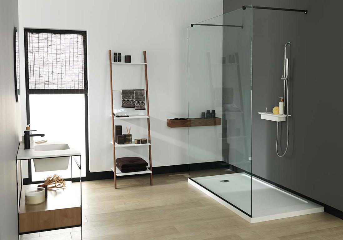 Большая ванная в стиле минимализм
