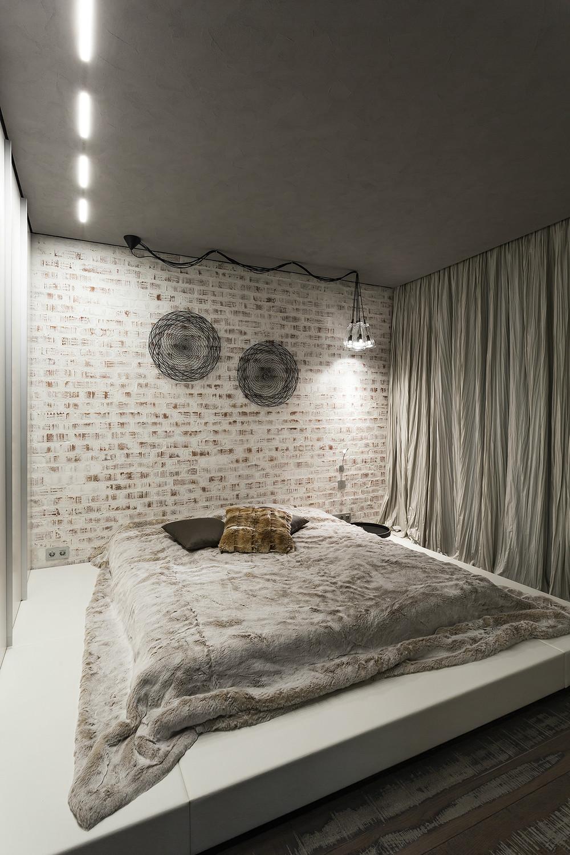 Кровать подиум с мягкой основой