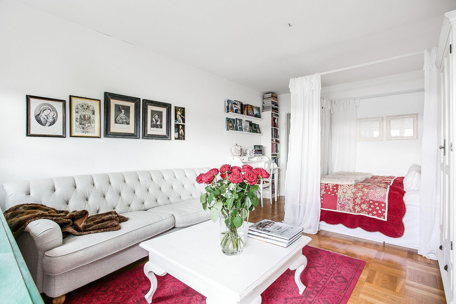 Зонирование шторами в однокомнатной квартире