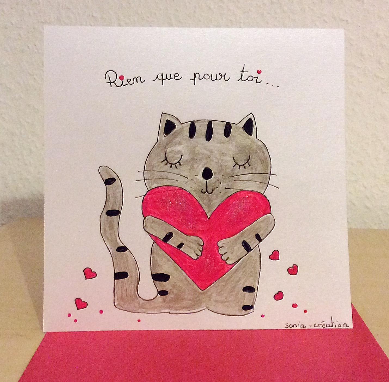 Подарок на 14 февраля своими руками открытка с котом