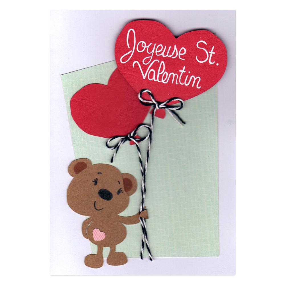 Подарок на 14 февраля своими руками открытка с мишкой