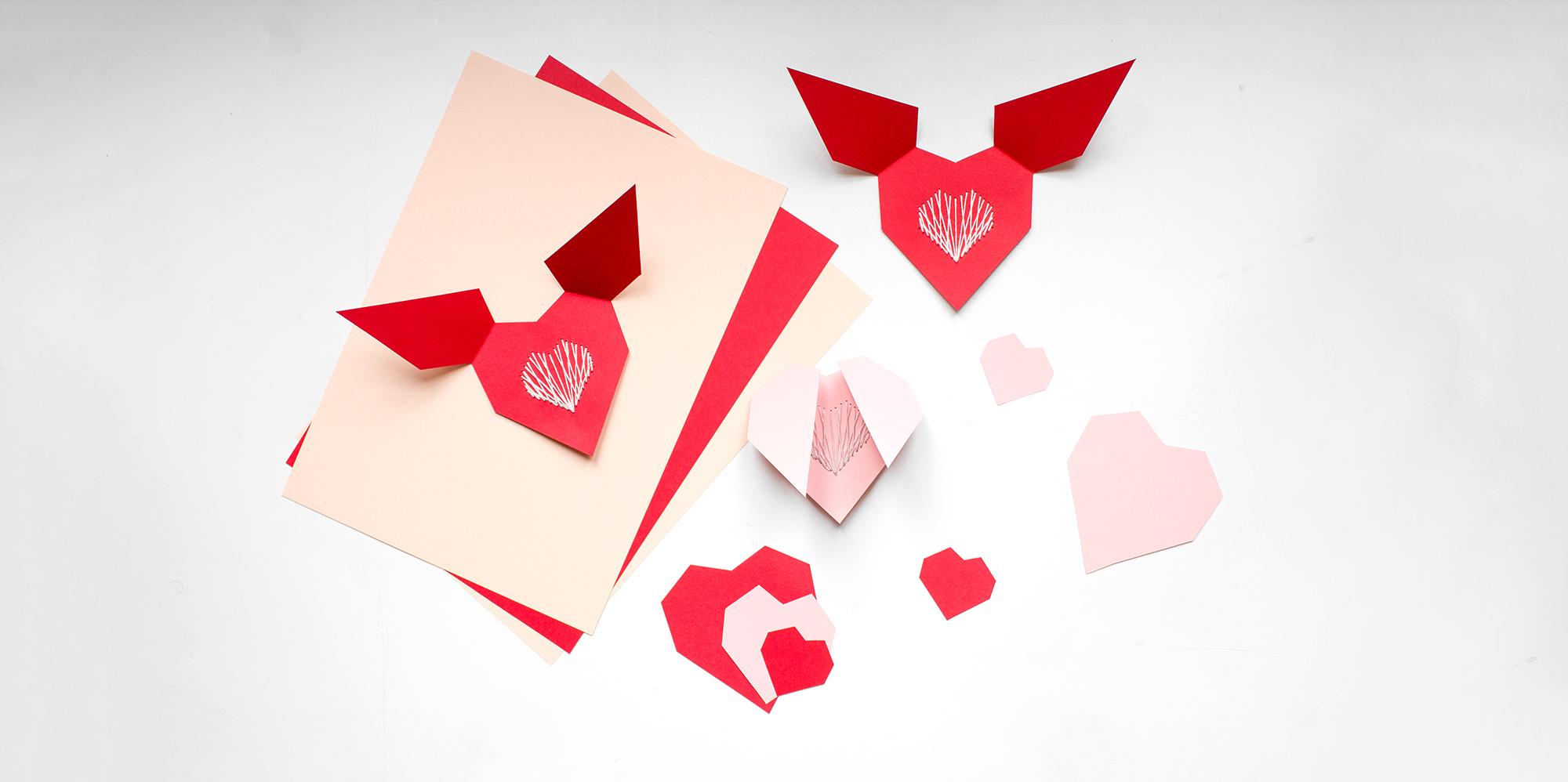 Подарок на 14 февраля своими руками открытка оригами