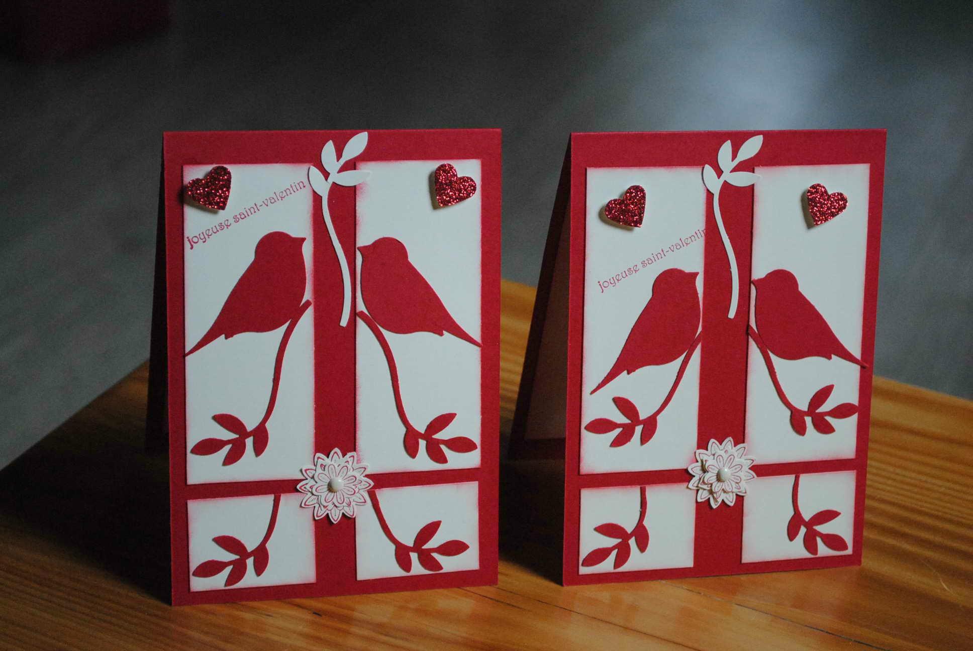 Подарок на 14 февраля своими руками открытка с птицами