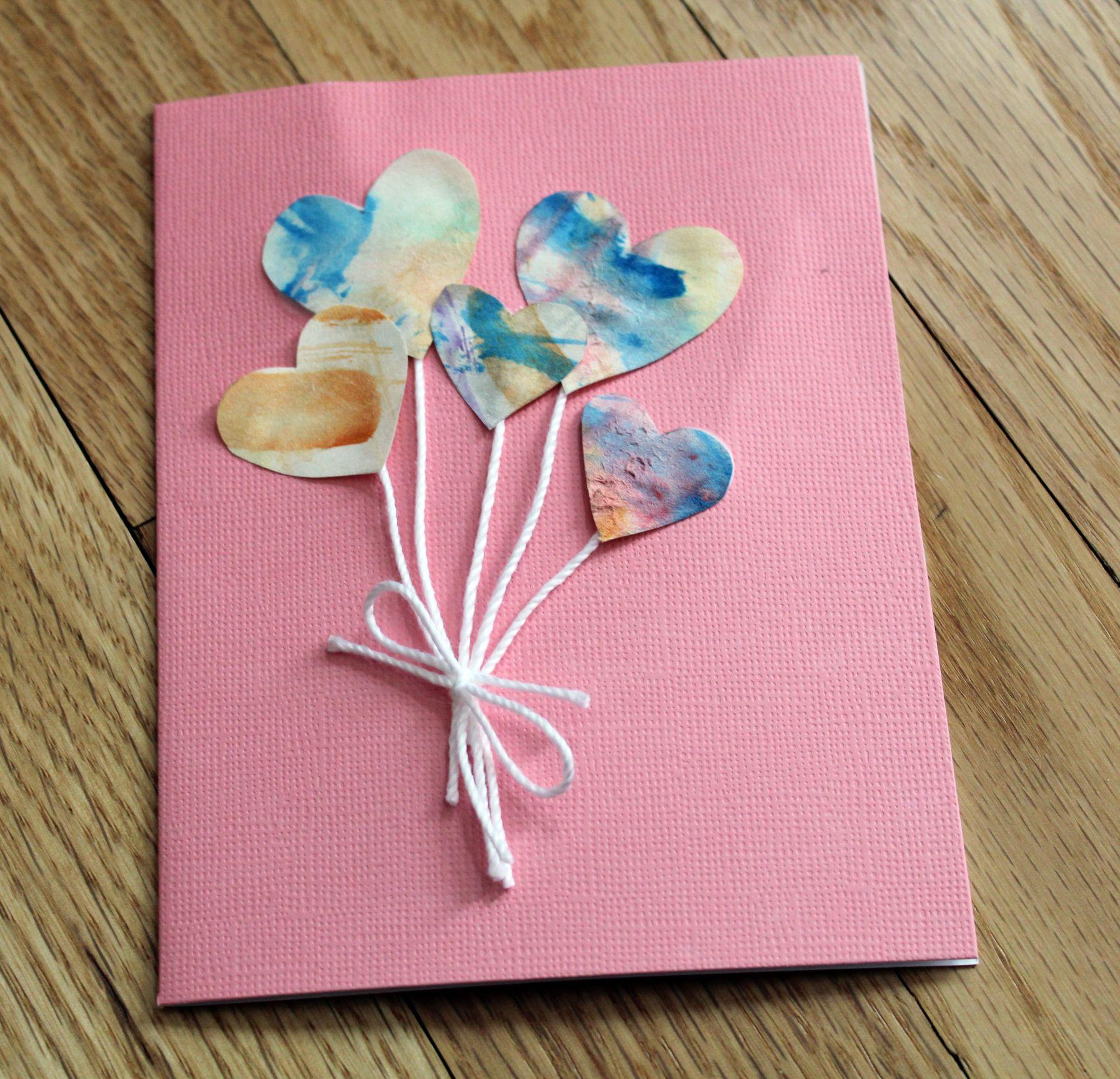 Подарок на 14 февраля своими руками открытка с сердцами