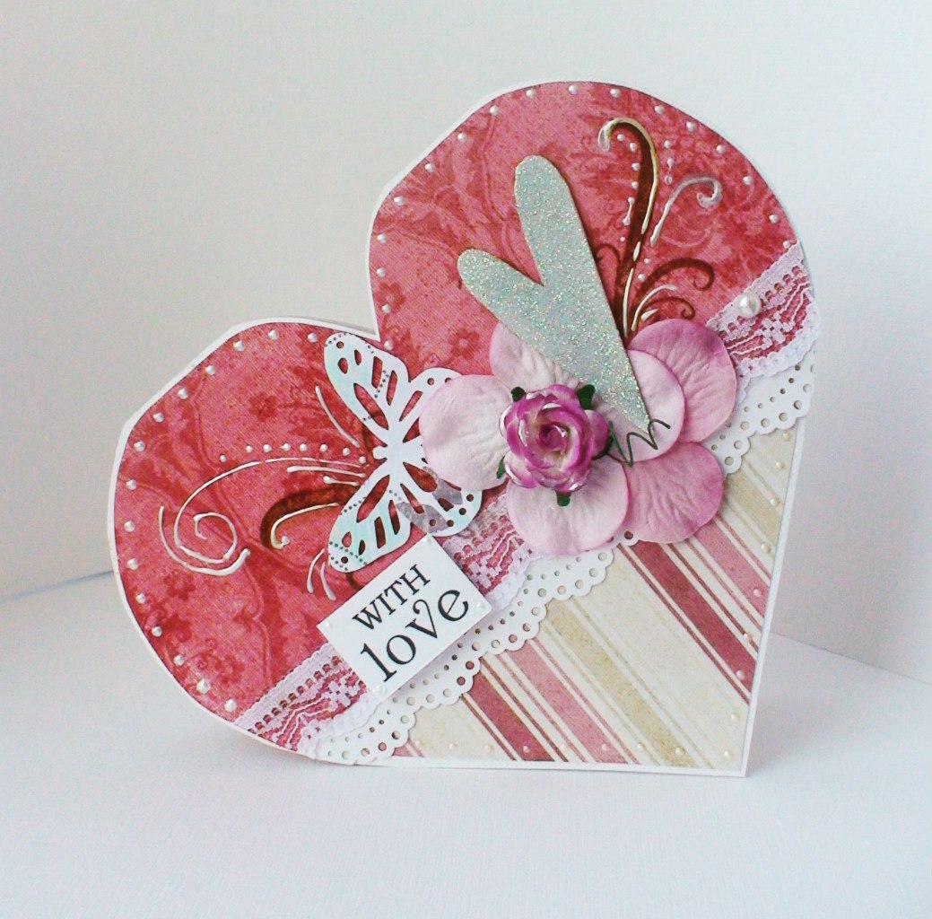 Подарок на 14 февраля своими руками открытка в виде сердца