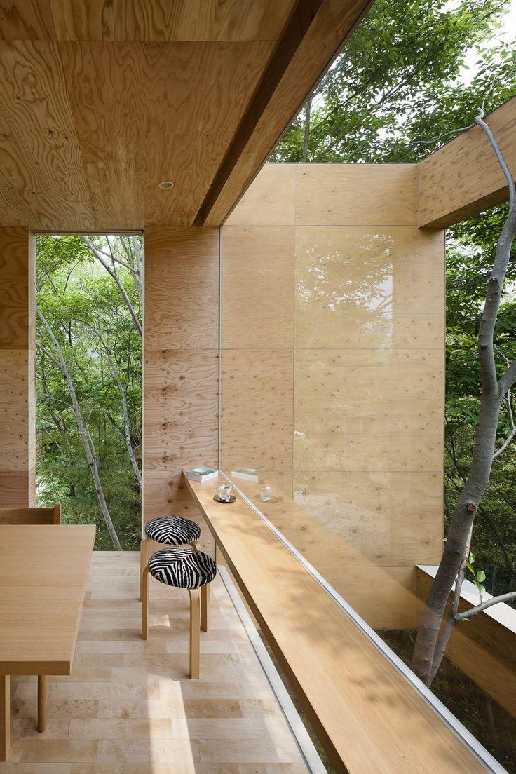 Японский интерьер с панорамными окнами