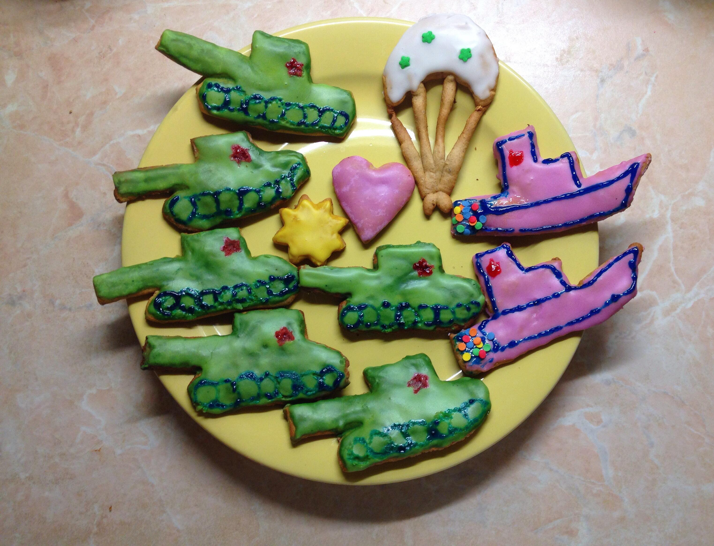 Поделки на 23 февраля печенье