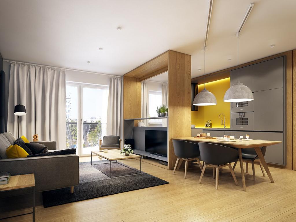 Как расставить мебель в однокомнатной квартире с перегородкой