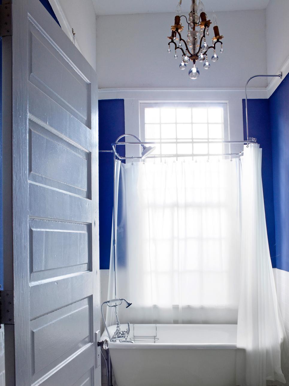 Большая ванная покраска