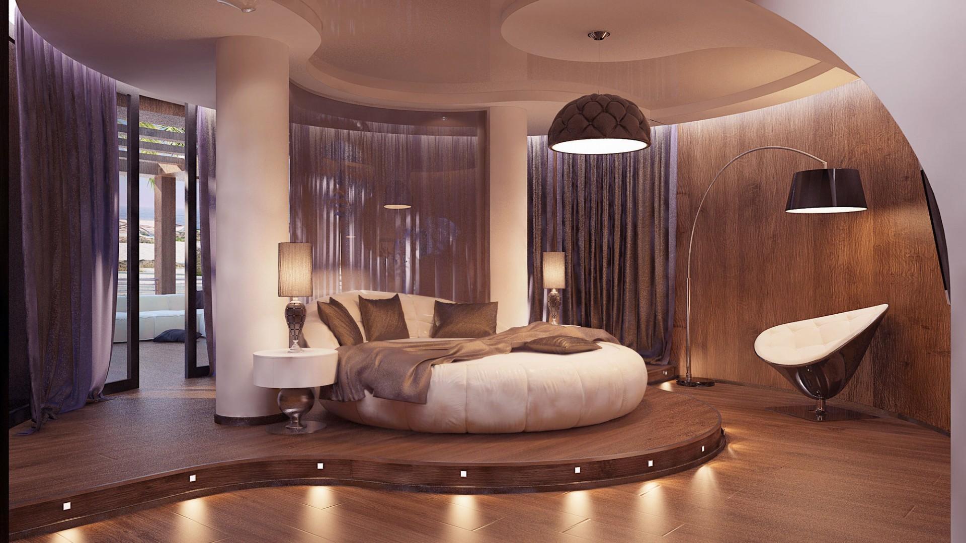 Кровать подиум полукруглая