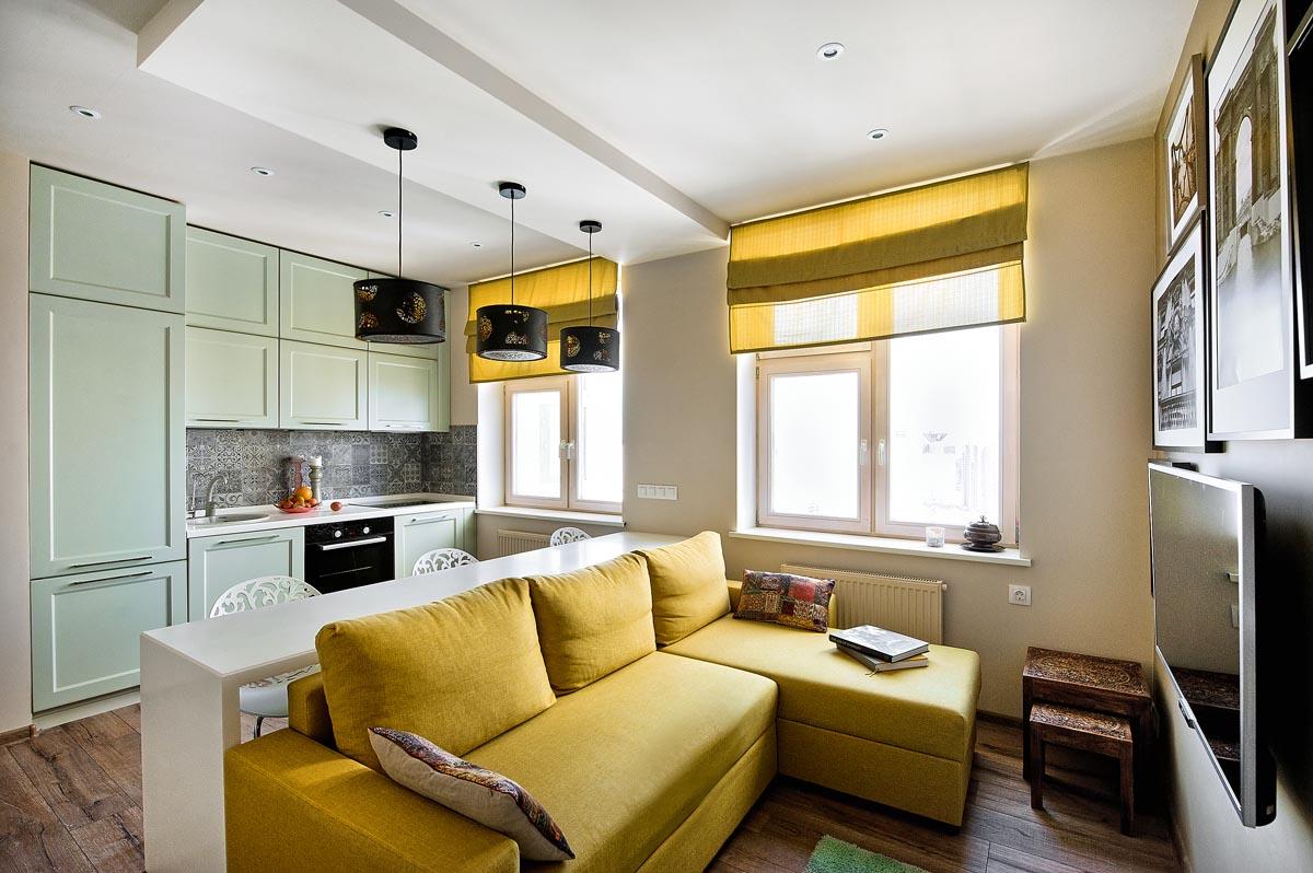Как расставить мебель в пространстве однокомнатной квартиры