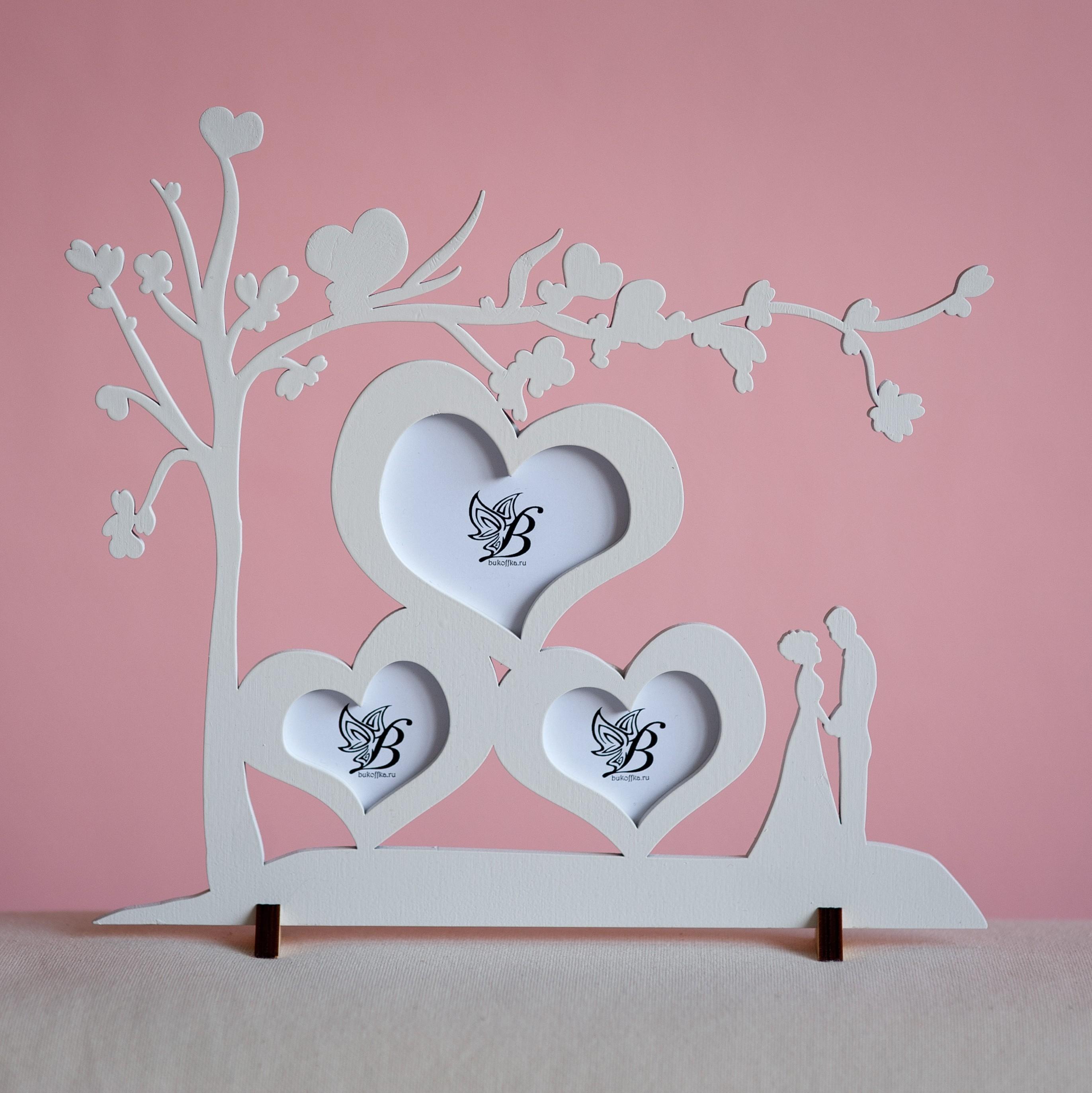 Подарок на 14 февраля своими руками рамка из дерева
