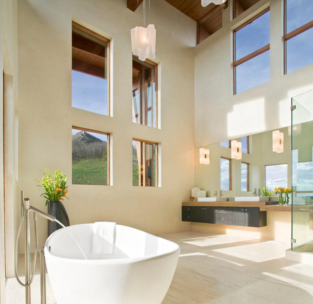 Большая ванная шале