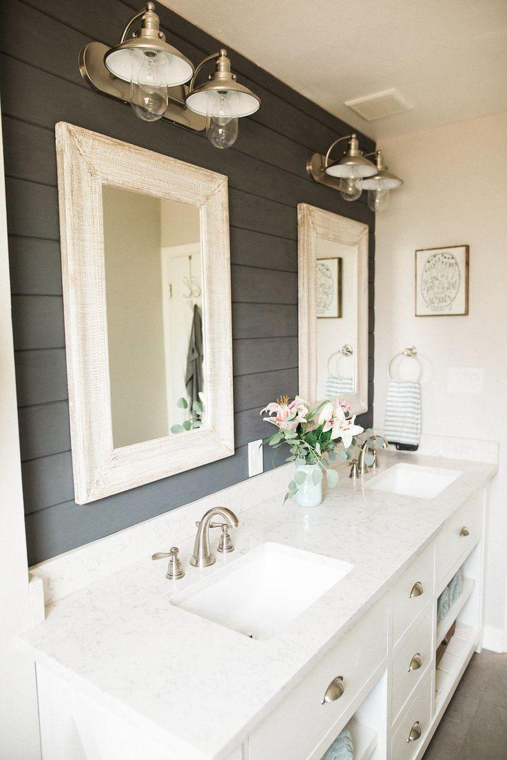 Большая ванная в стиле шебби шик