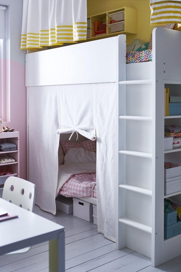 Кровать чердак со шторками