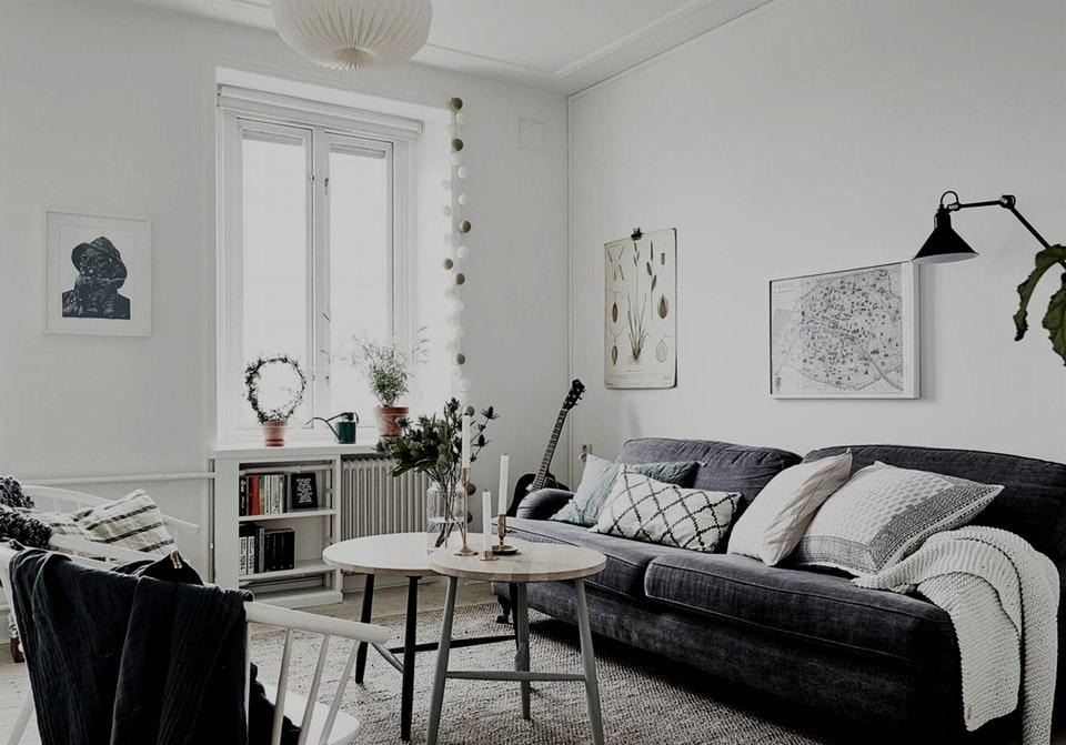 Белый интерьер в скандинавском стиле