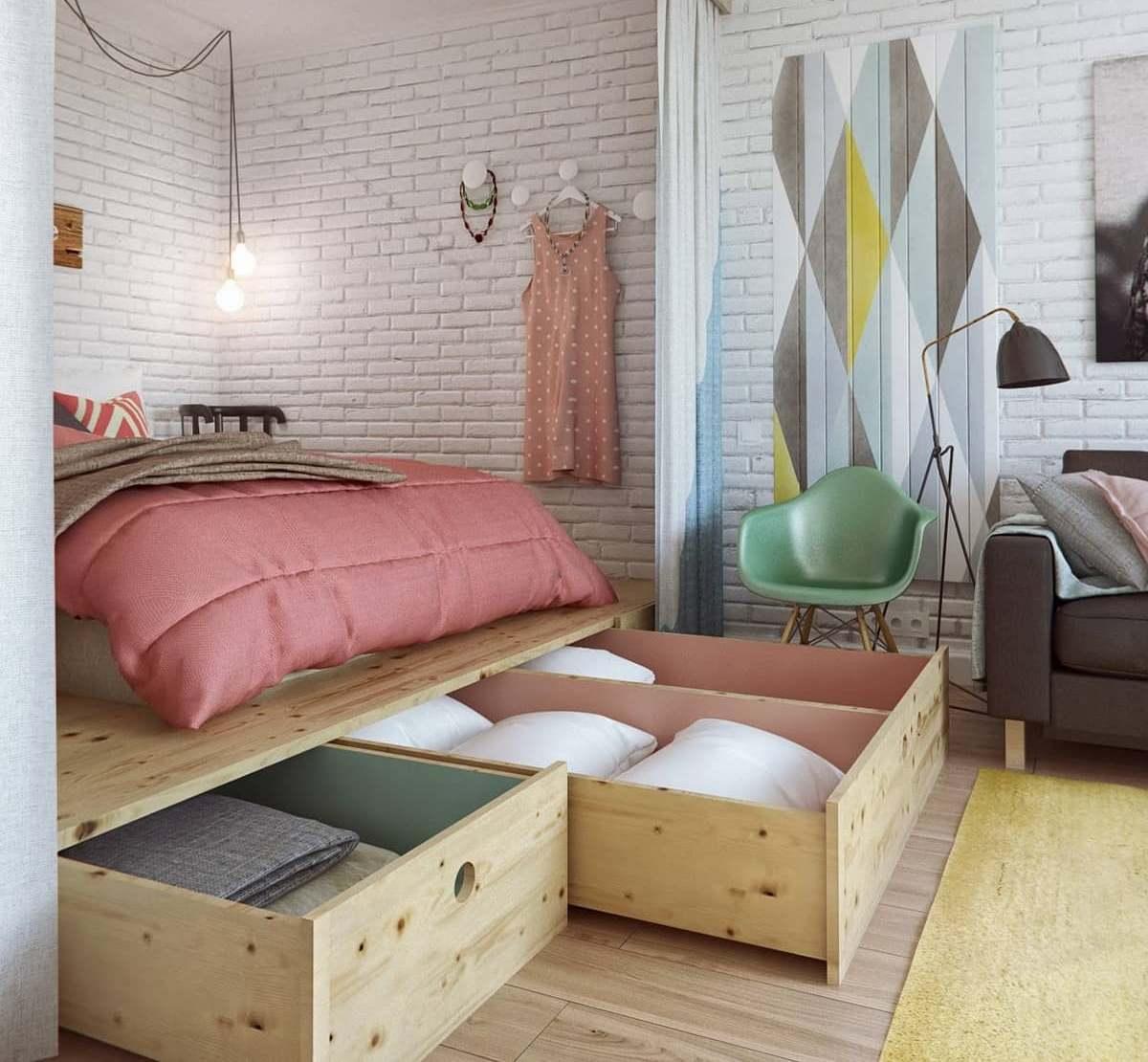 Кровать подиум современная