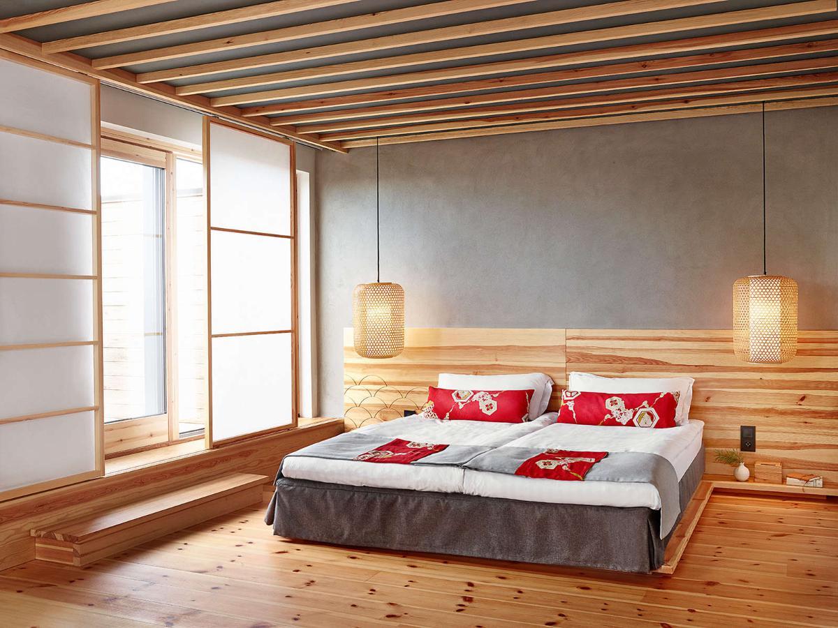 Японский интерьер спальной комнаты