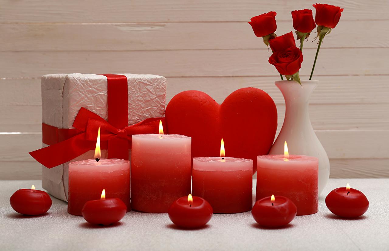 Подарок на 14 февраля своими руками свечи