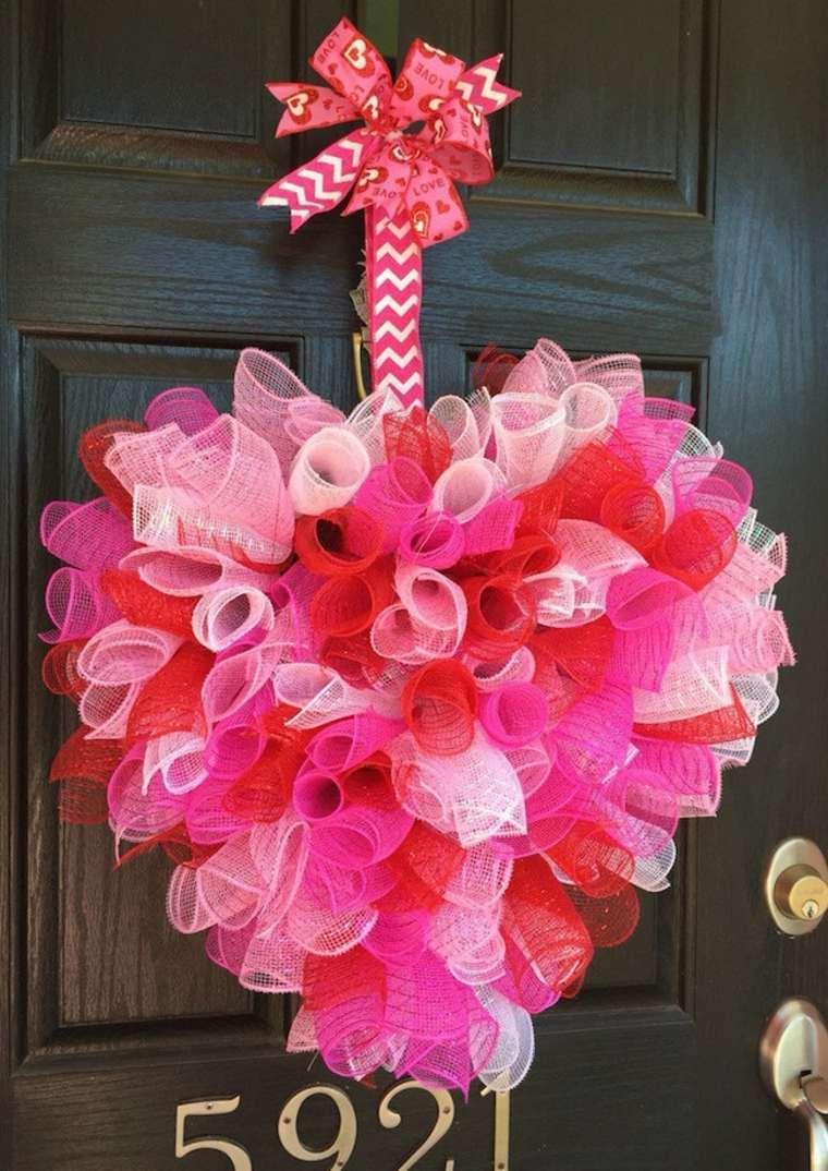 Декор на день святого валентина тканью