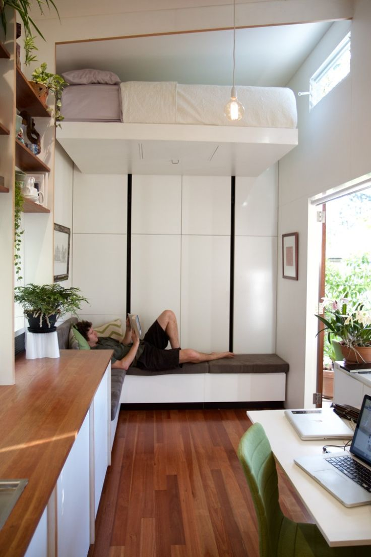 Кровать подиум узкая