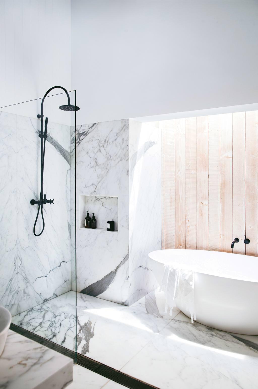 Большая ванная 2019 с мрамором