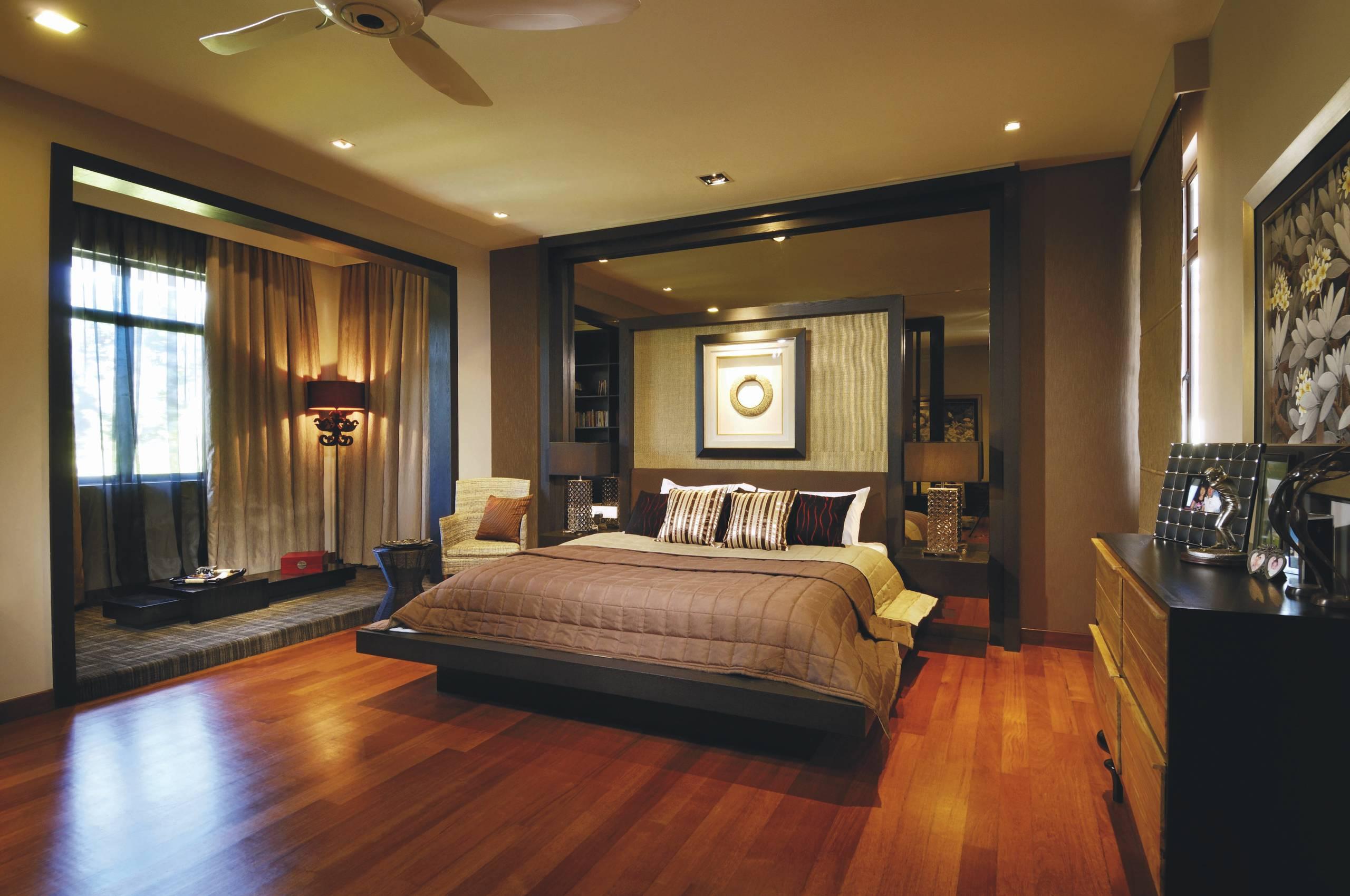 Кровать подиум в восточном стиле