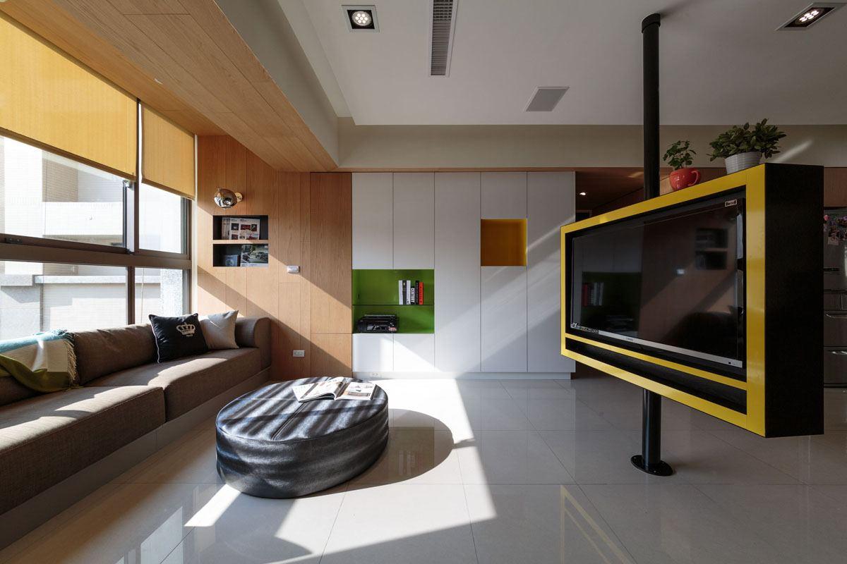 Как расставить мебель в однокомнатной квартире со встроенным шкафом