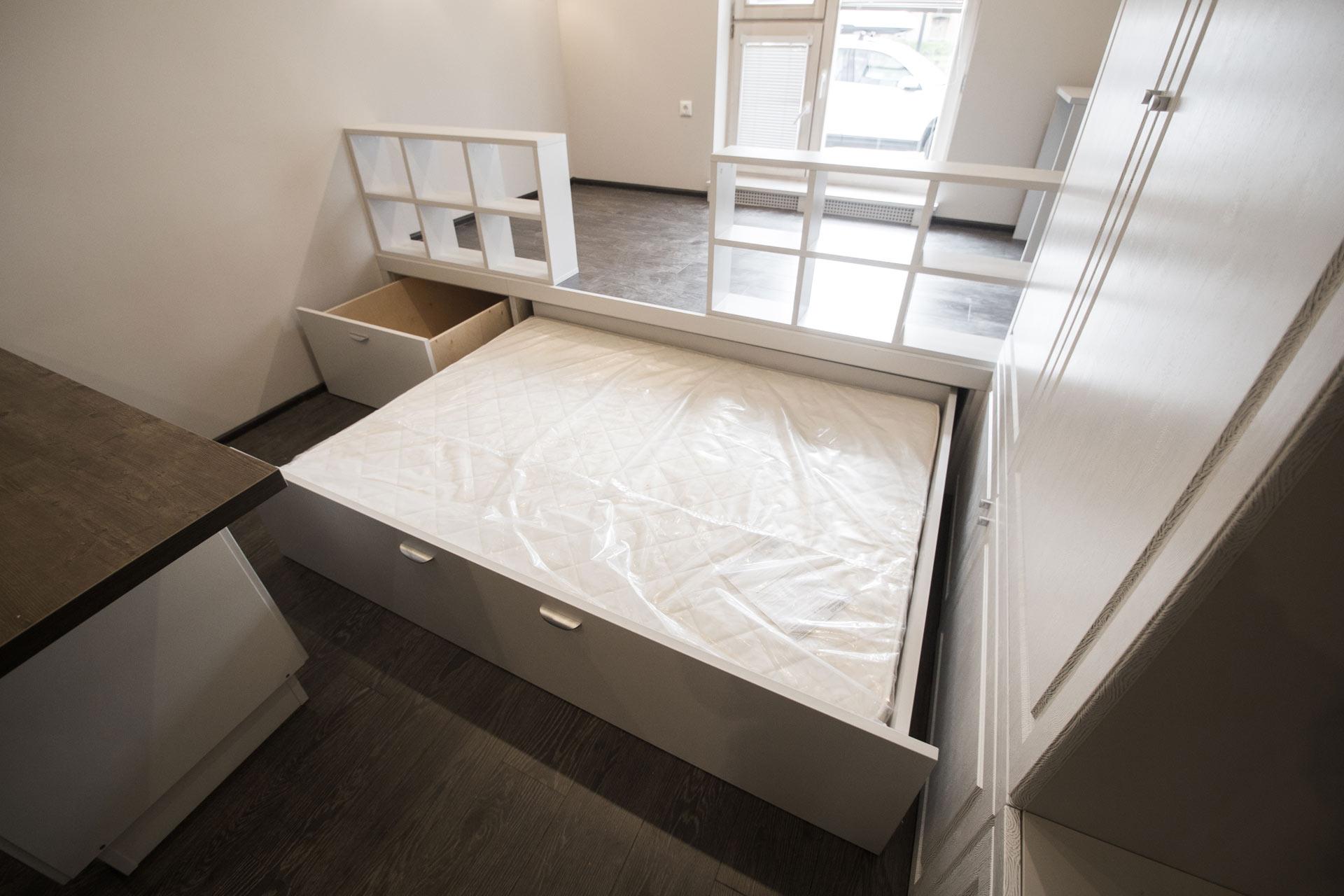Кровать подиум выдвижная