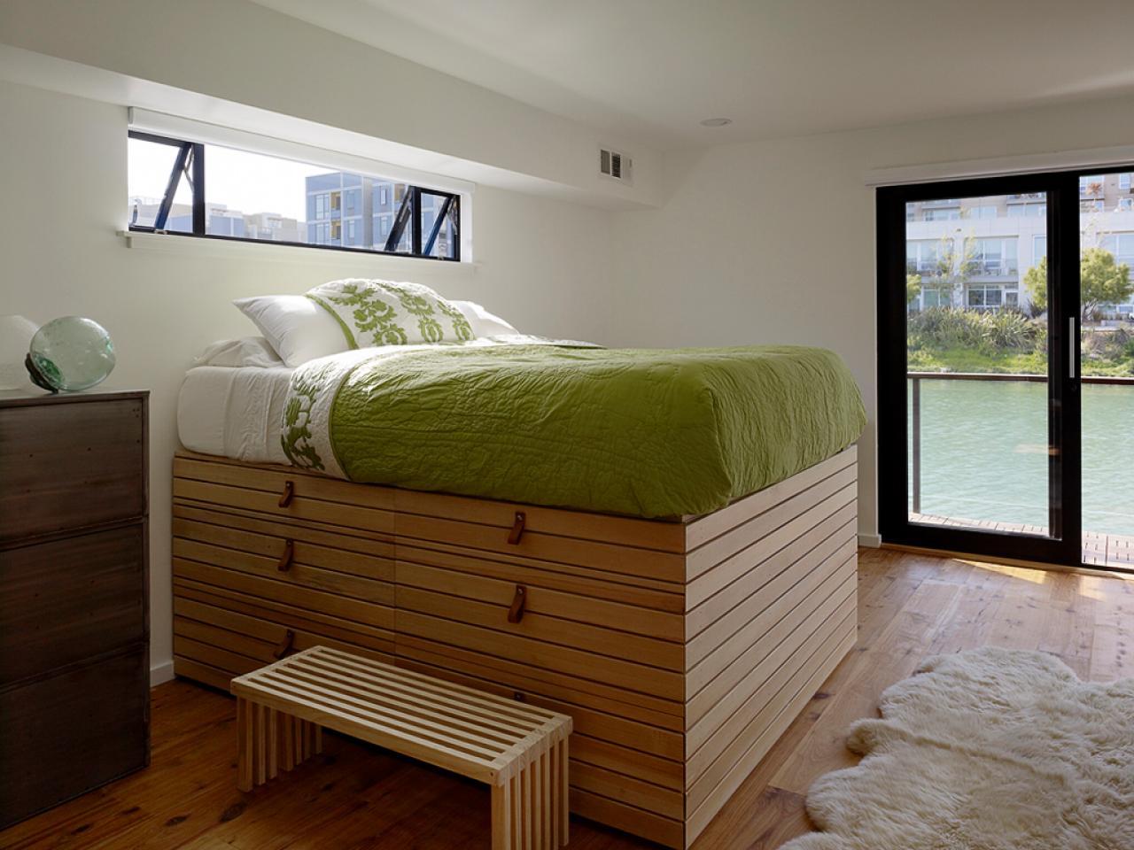 Кровать подиум высокая