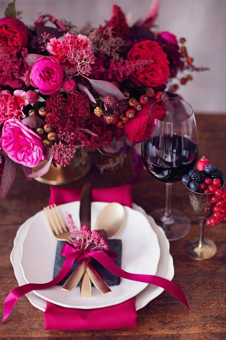 Декор на день святого валентина из ягод