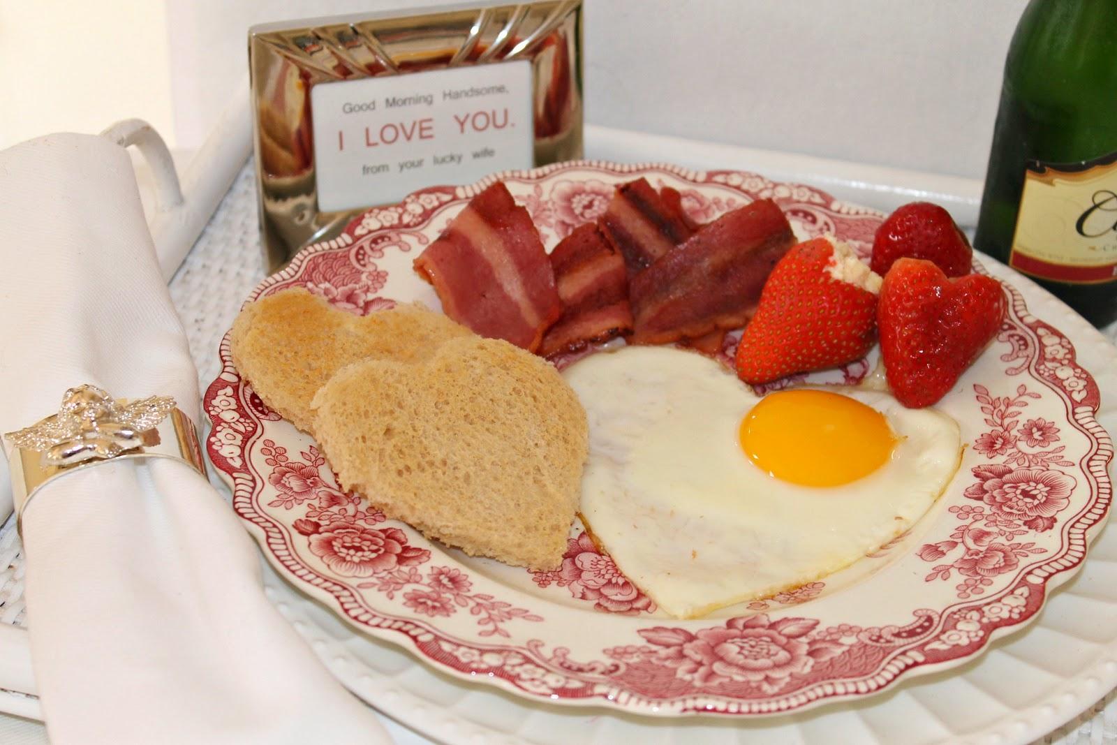 Подарок на 14 февраля своими руками завтрак в виде сердца