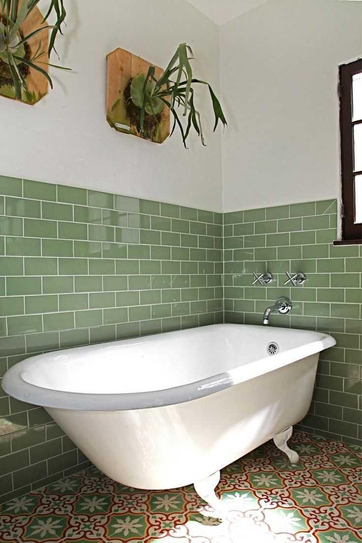 Ванная своими руками зеленая