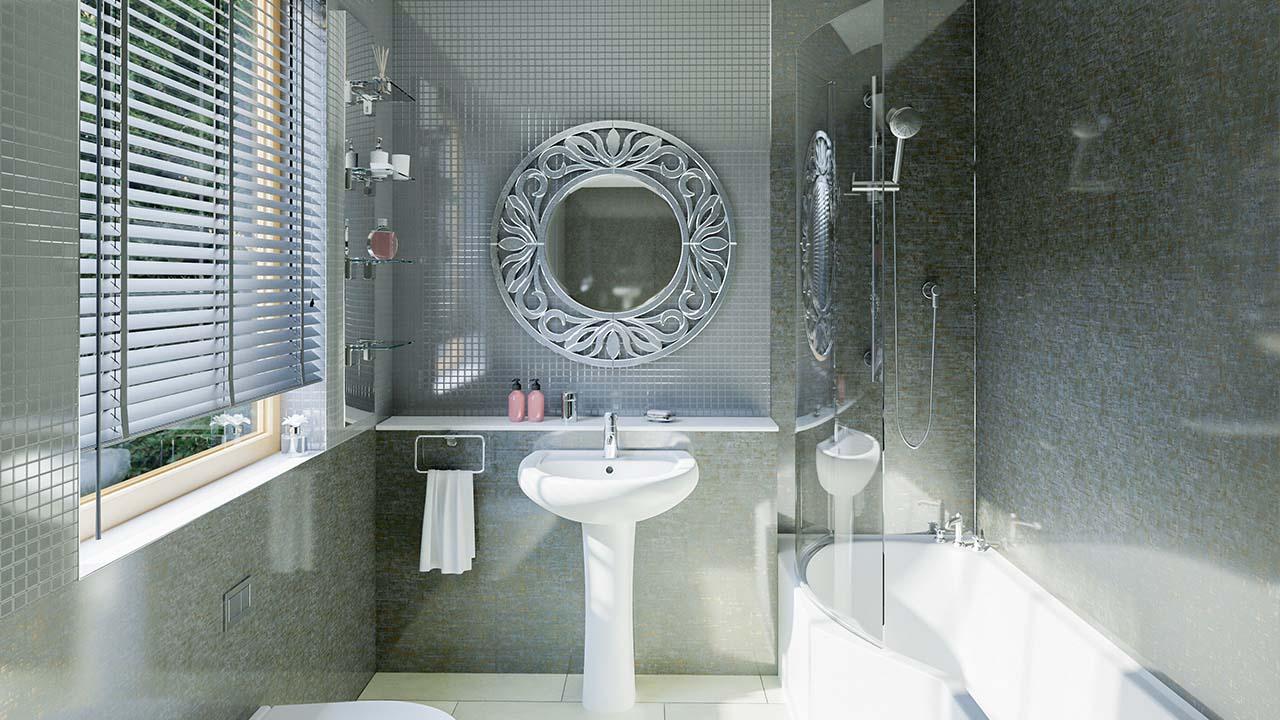 Ремонт туалета панелями ар-деко