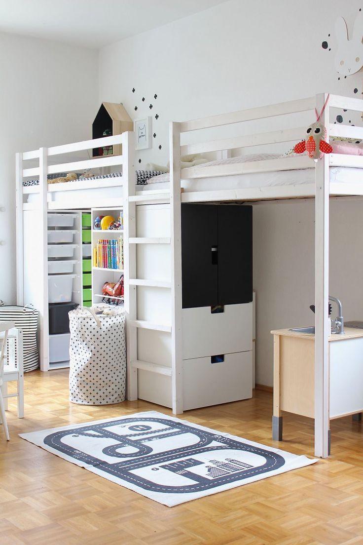 Детская для двоих детей с кроватью чердаком