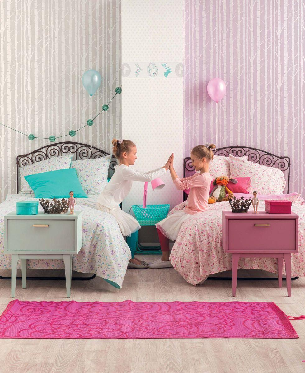Планировка детской в разных цветах