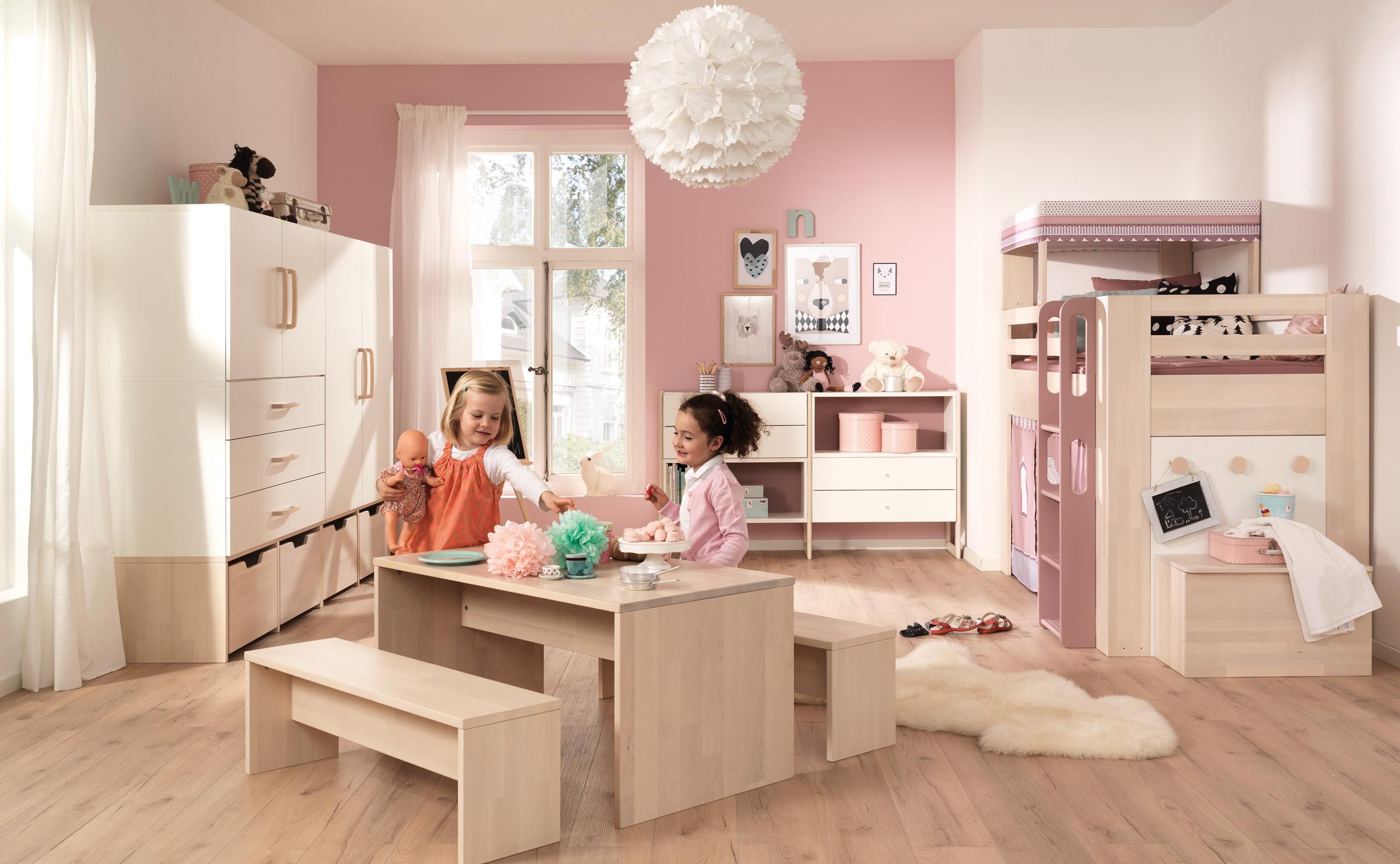 Планировка детской для двух девочек
