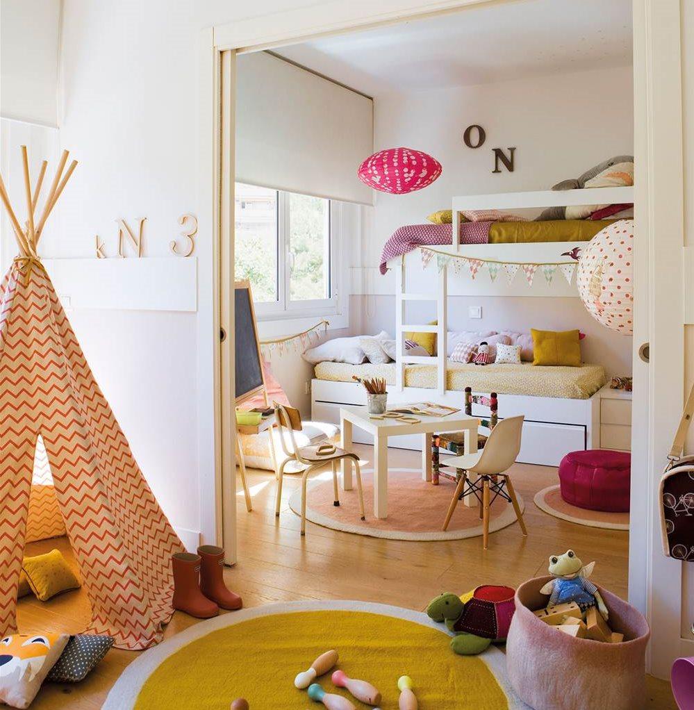 Декор детской с двухэтажной кроватью